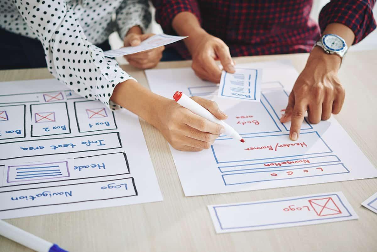 7 key website design principles working on interface