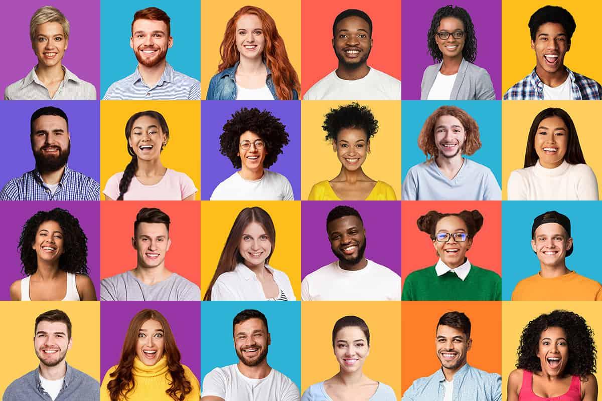 buyer personas collection of joyful millennials