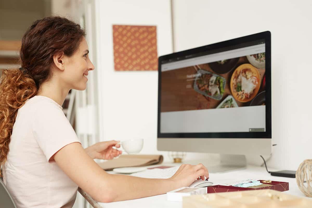 dynamic and static websites web designer working on website