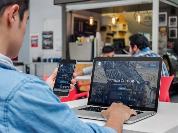 iphone and macbook mockup why responsive website design