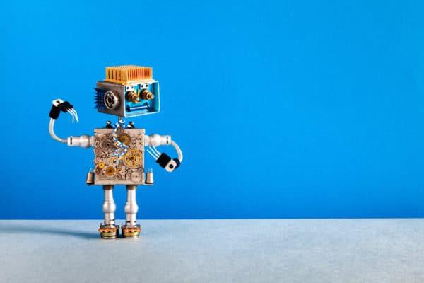 mechanical robot cheerful humanise brand