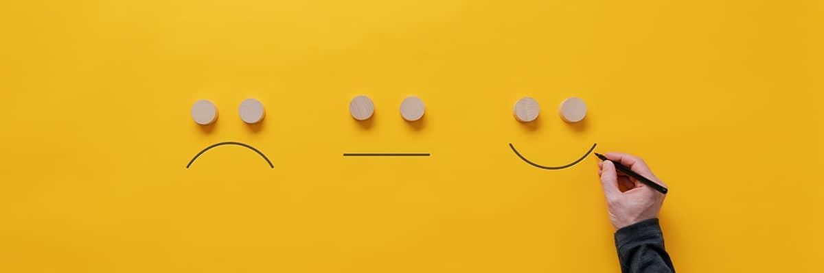 online reputation management customer feedback satisfaction concept