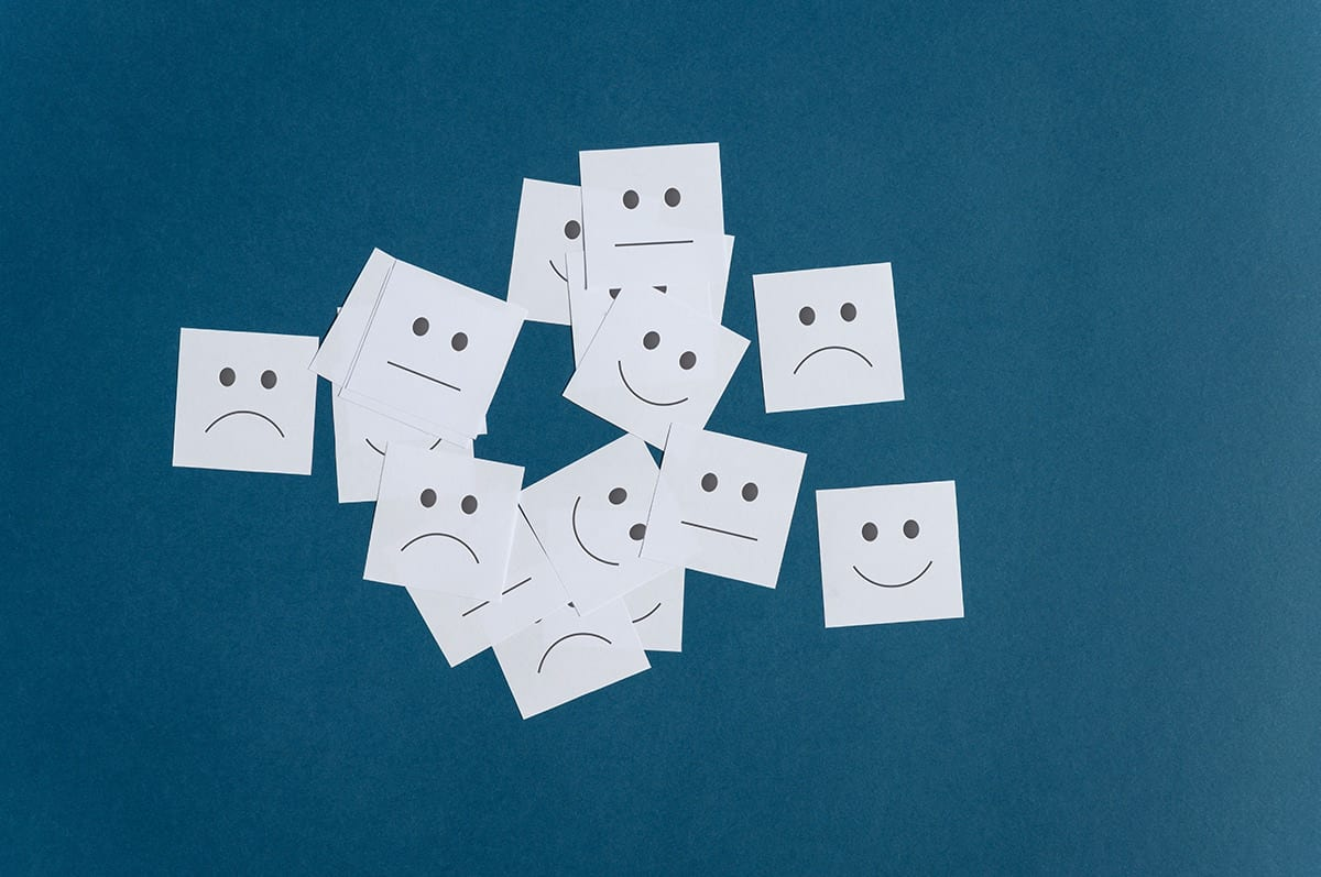 online reputation management post it papers smiling sad