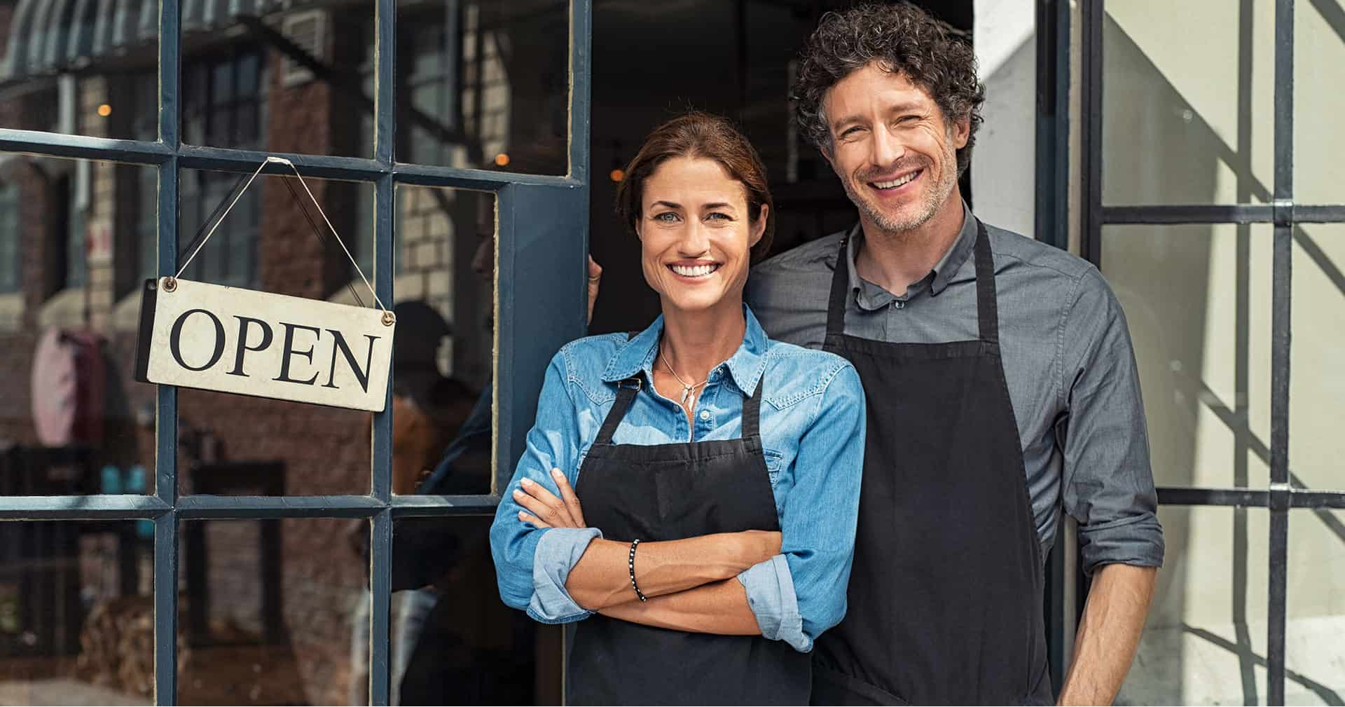 small business owners couple featured image